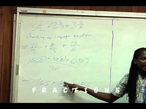 Damion Crawford Mathematics CXC Class FRACTIONS Day One DVD