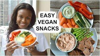Easy Vegan Snacks for after School & Work   Raw