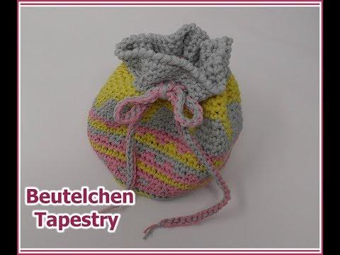 Beutelchen Tapestry - EINFACH Häkeln mit NOBLY von Woolly Hugs - YouTube