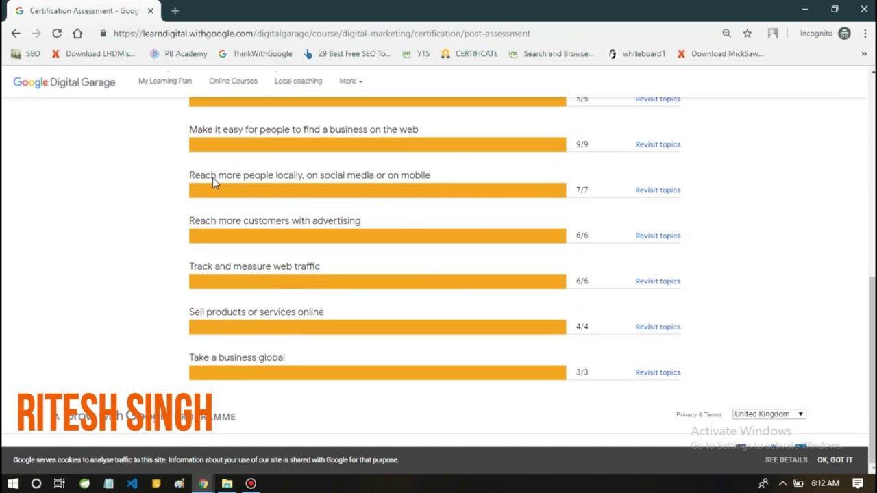 Answer of Google Digital Unlocked Exam(8th Video) | 100% CORRECT