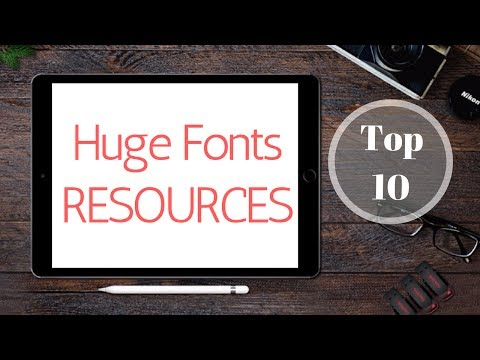 Top 10 Websites With Free Fonts For Designers