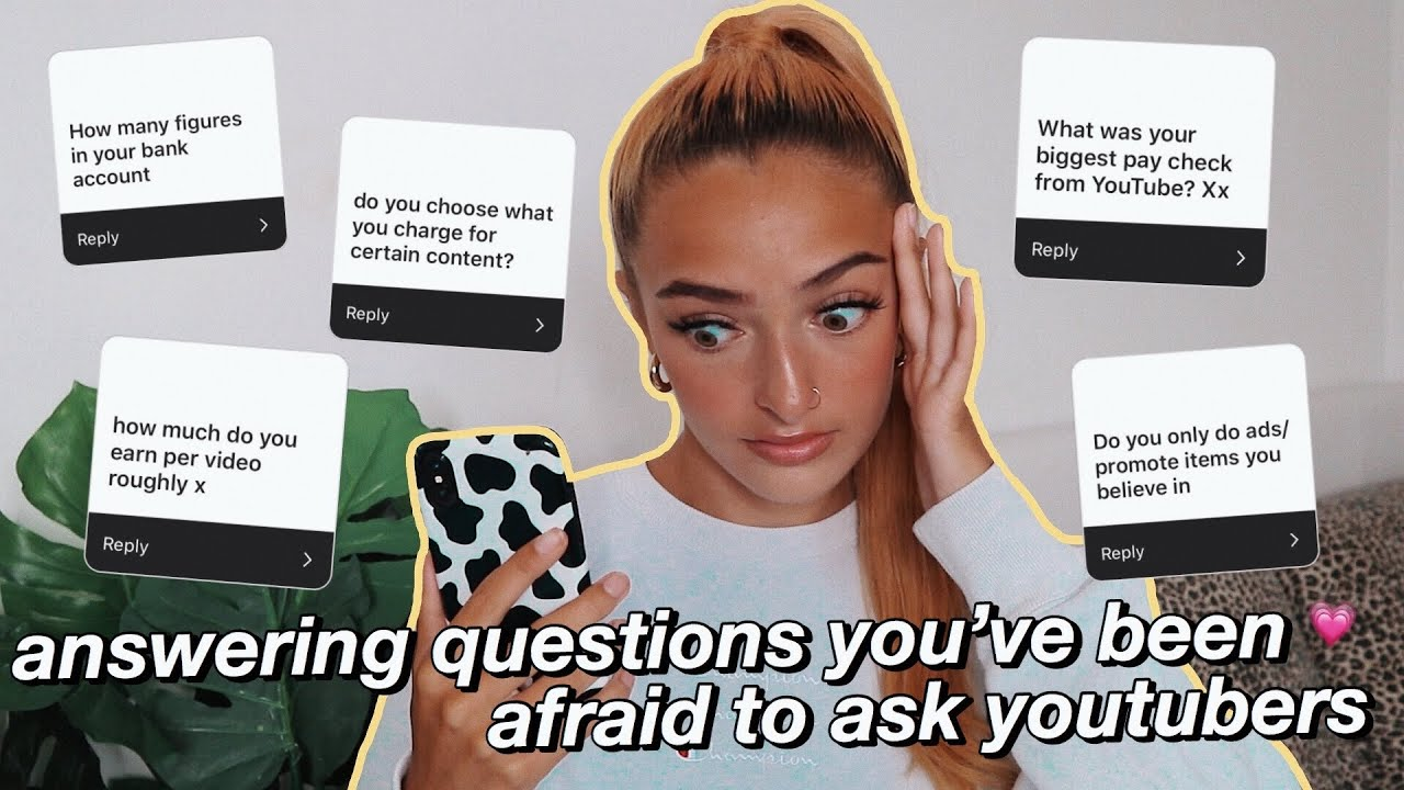 answering questions you're too afraid to ask YouTubers | Amy Menzies