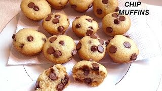 Chocolate Chip Muffins, Quick And Easy, One Bowl, No Fancy Equipment