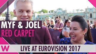 Video Myf Warhurst & Joel Creasey (SBS Australia Eurovision 2017 commentators) @ red carpet download MP3, 3GP, MP4, WEBM, AVI, FLV November 2017