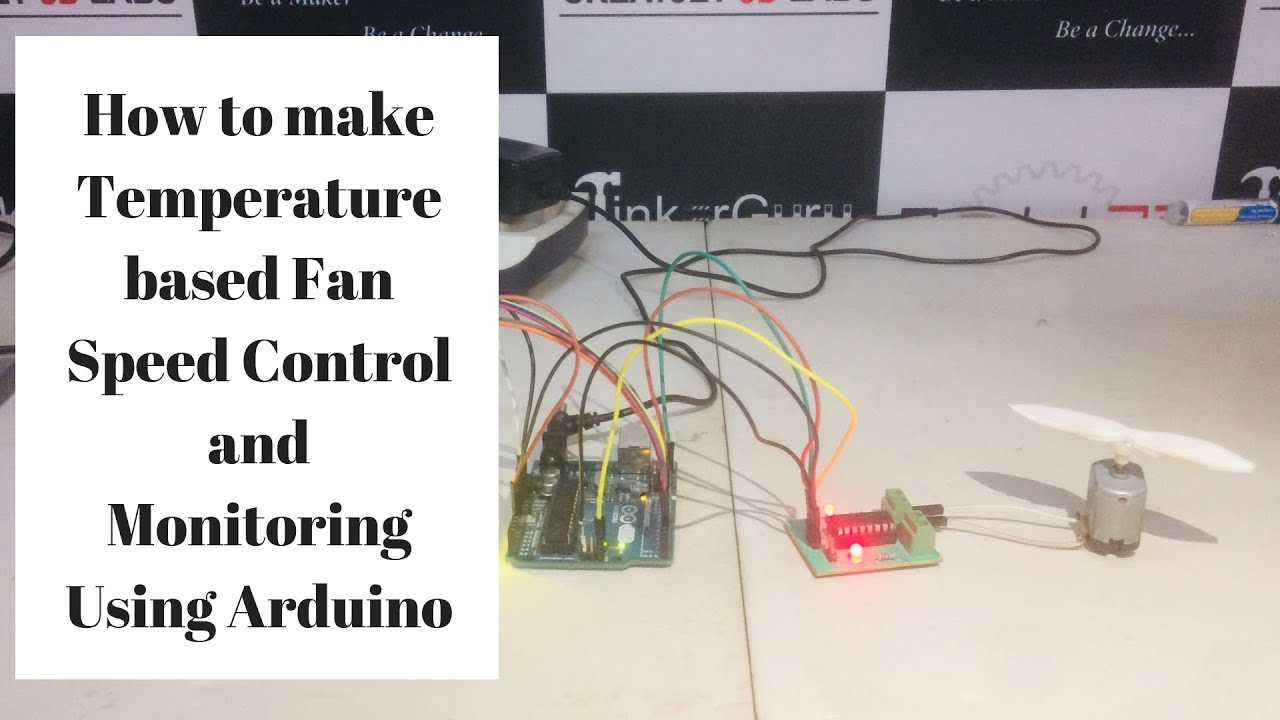 Temperature based fan speed control and monitoring using Arduino