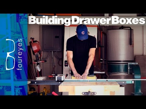 How To Build Drawer Boxes - Woodworking Tips