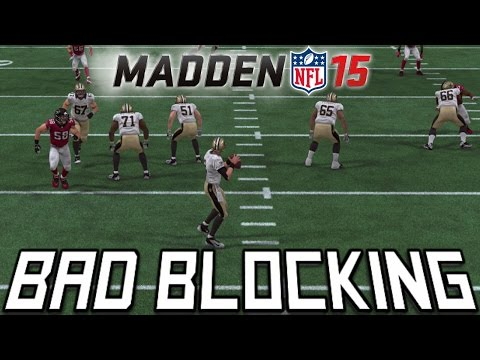 #MUT15 Gameplay | Madden 15 Awful Offensive Line Blocking | 2 Man Pass Rush |