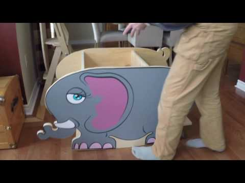 20170225 Childrens Elephant 3 in 1 Rocker, Chair and Desk