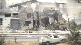 Реальное видео боя в Сирии. Камера на танке.