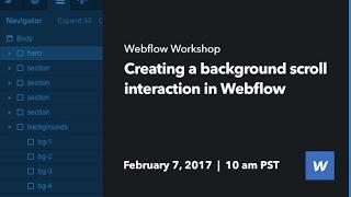 إنشاء خلفية انتقل التفاعل في Webflow