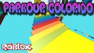 Roblox - PARKOUR COLORIDO COM MAMIS
