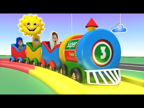 Trains for Kids - Choo Choo Train - Kids Videos for Kids - Police Car - Toy Factory - Toy Trains