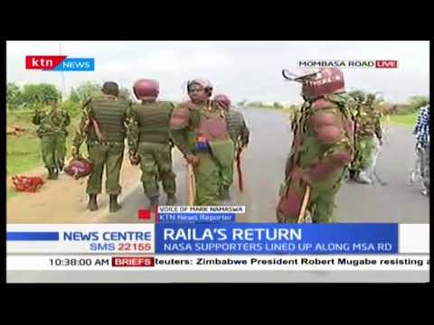 Police outside JKIA as NASA supporters march towards airport