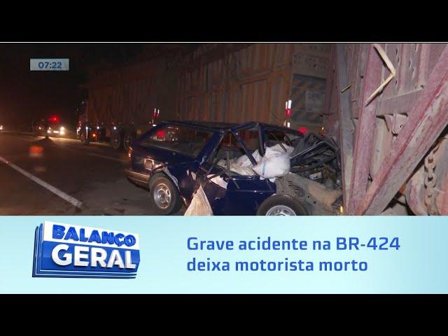 Em Marechal Deodoro: Grave acidente na BR-424 deixa motorista morto