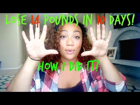 How I Lost 14 Pounds In TEN DAYS! 10 Day Green Smoothie Cleanse