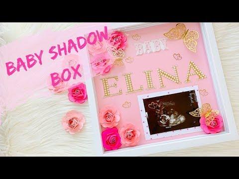 DIY Shadow Box // Baby Girl Shadow Box //Baby Name Shadow Box Ideas // Miss O Crafts