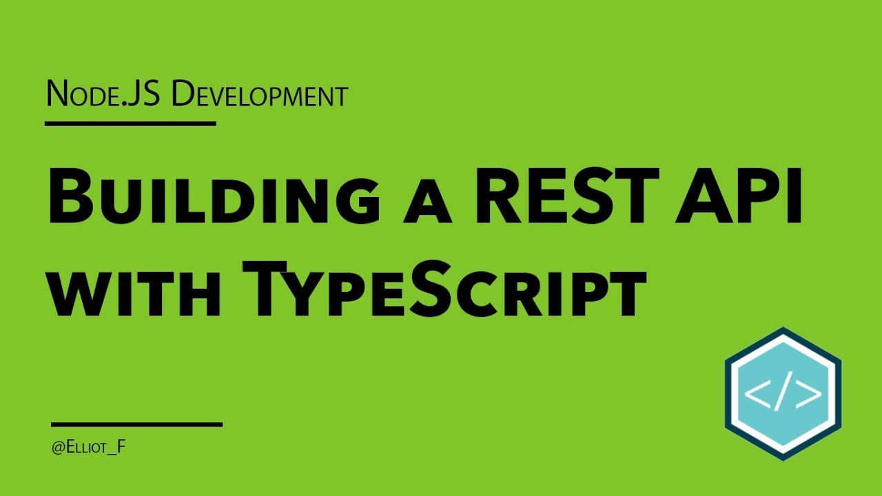 Building a REST API in TypeScript with ExpressJS - Part 1