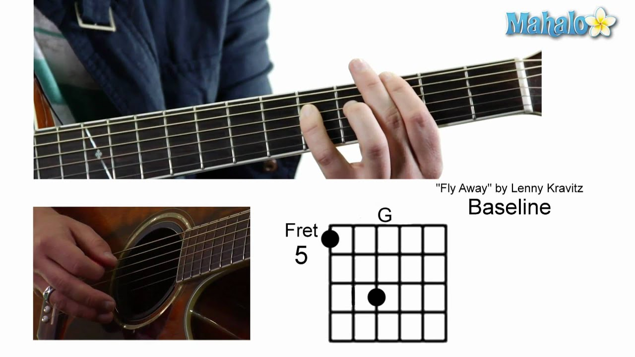 How To Play Fly Away By Lenny Kravitz On Guitar Youtube