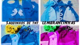 Saquinhos de TNT porta treco para embalagem e saquinhos para lembrancinhas