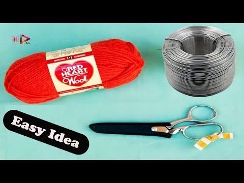 DIY Easy Woolen Flowers Wall Hanging | Home Decorating Ideas Handmade | Simple Wool Craft Idea