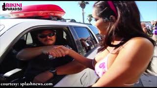 P0RN Actress Daisy Marie KISSES POLICE MAN
