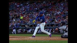 Asdrubal Cabrera Home Run Swing Slow Motion 2019-1(#9)