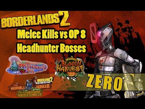 Melee Zer0 vs the OP 8 Head Hunter Bosses |