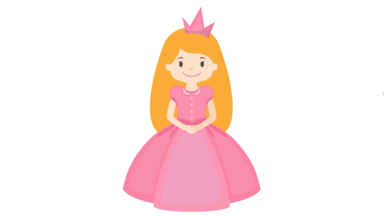 How To Draw & Color A Cute Fairy Tale Princess Step By Step In Less Than 3  Minutes (hd Video)