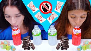 ASMR MOST POPULAR FOOD CHALLENGE (NO HANDS RACE, OREO, MARSHMALLOW, RAFFAELLO)