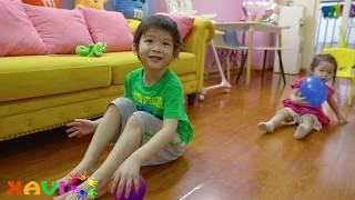 8 Fun Kids games to play at home - Xavi and baby Anna activities at home