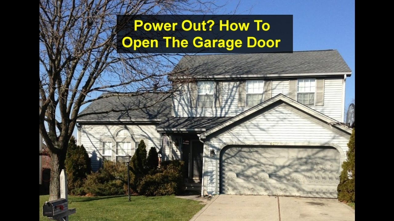 No Power How To Open Your Garage Door Manually Votd Youtube