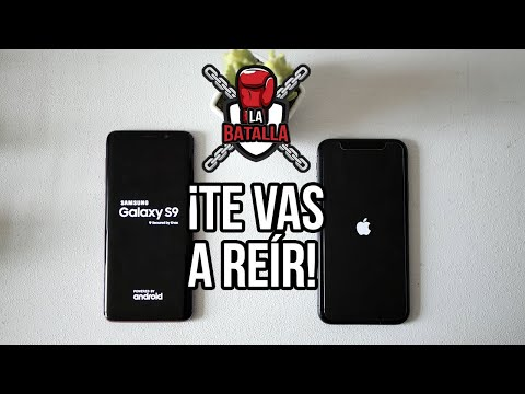 Apple iPhone X vs Samsung Galaxy S9 | La batalla