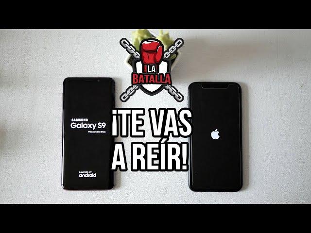 Apple iPhone X vs Samsung Galaxy S9 | La batalla