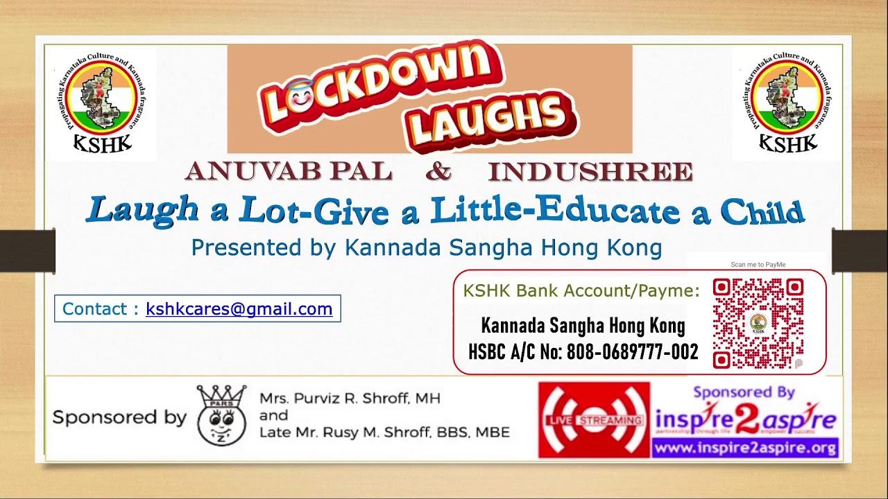 Lockdown Laughs - LAUGH A Lot - Give A Little - Educate A Child LIVE Comedy Show 28-Nov 6 PM !