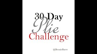 30 Day Plie challenge! -Home Barre Workout- 100 Plies-