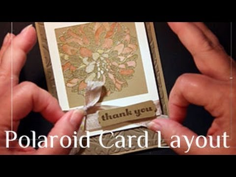 how to make a polaroid frame greeting card