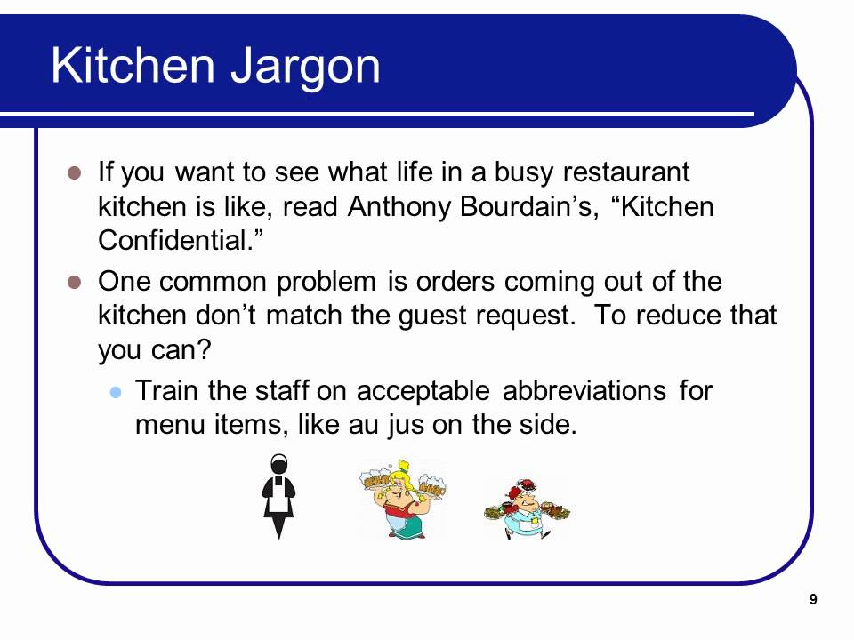 Restaurant Kitchen Jargon foodservice management lecture 2 - youtube