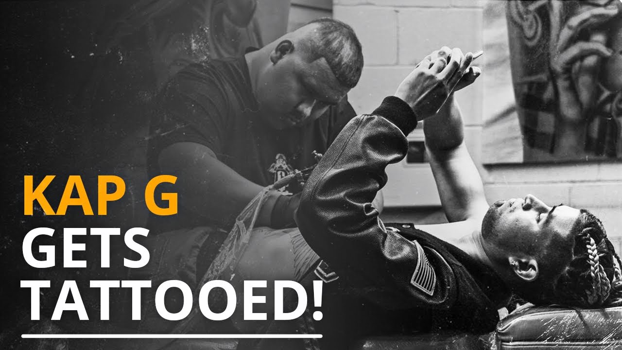 Kap G Gets Tattooed By Artist Elias Mora | Arte Tattoo Studios