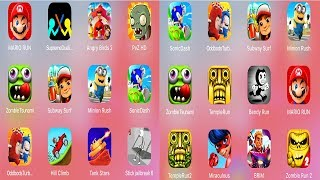 Mario,Supreme Duelist,Angry Birds,PvZ,ZombieTsunami,SubwaySurf,Minion,Sonic,Stickman,TempleRun,