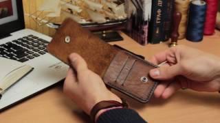 Видео обзор картхолдера из натуральной кожи ручной работы VOILE vl-ch2-brb-tbc