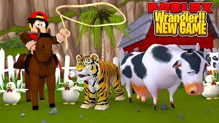 ROBLOX - WRANGLER - ROUNDING UP ANIMALS FOR MY NEW ZOO!!