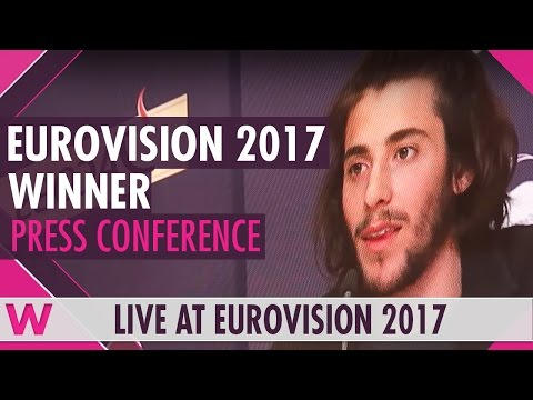 Eurovision 2017: Winner's Press Conference (Portugal's Salvador Sobral)