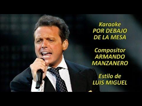 Mi Karaoke - Por debajo de la mesa - Luis Miguel (Tono bajo)