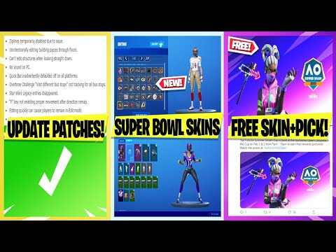 *NEW* FREE Skin + Pickaxe, Super Bowl Free Skins, Update Patch Notes, Leaked Freemix Emote Showcase!