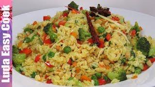 ВКУСНЫЙ ГАРНИР ИЗ РИСА и овощей на сковороде БЫСТРО И ПРОСТО | VEGAN FRIED RICE recipe
