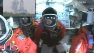 Patrick Baudry : Live astronaut comments inside the Space Shuttle
