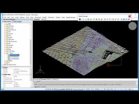 Importing LiDAR data  (BricsCAD) -  Spatial Manager Blog