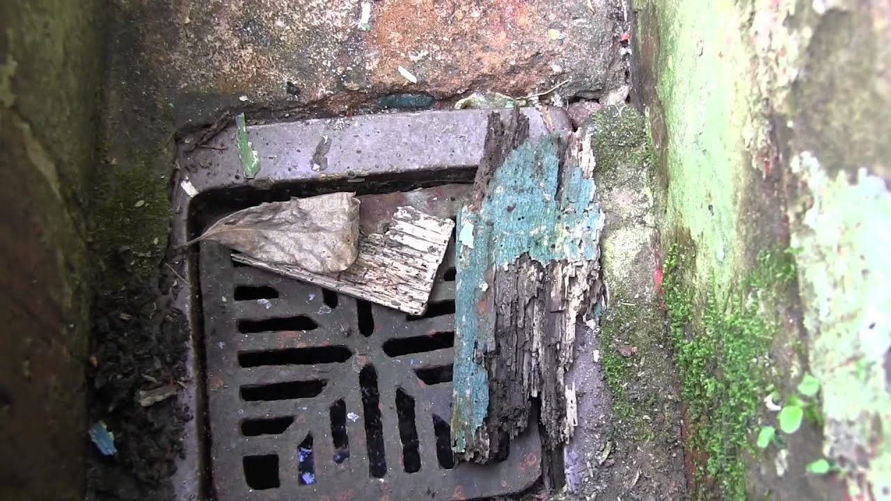 Kitchen Sink Drains Outside
