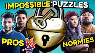 Pro Locksmiths Try To Solve IMPOSSIBLE Puzzle Locks | Pros Vs. Normies