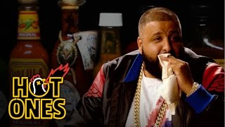 DJ Khaled Talks Fuccbois Finga Licking and Media Dinosaurs While Eating Spicy Wings Hot Ones